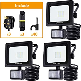 Outside External Exterior Wall Flood Light LED Security Floodlight Motion Sensor