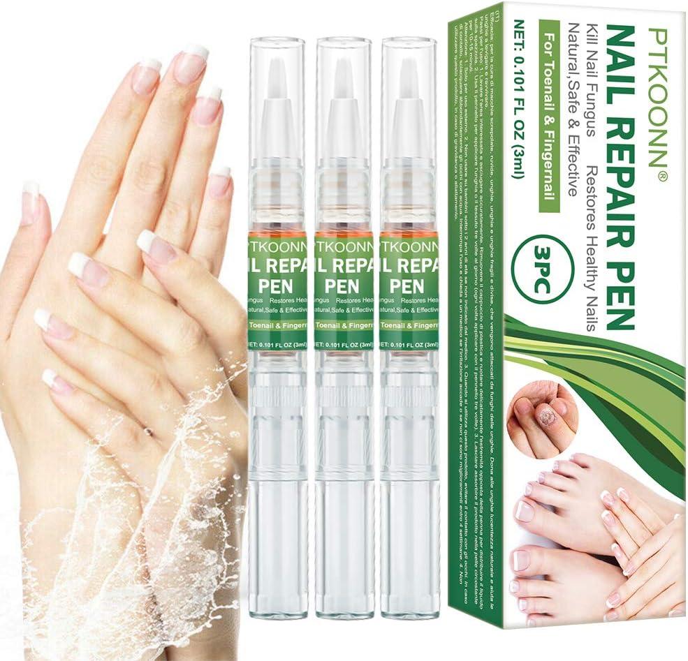 Tratamiento de Uñas, Hongos Uñas Pies, Pluma de Reparación de Uñas, reparación de uñas, Uñas de los pies y las Uñas Solución, Tratamiento rápido y eficaz Anti-Hongos para uñas 3PC