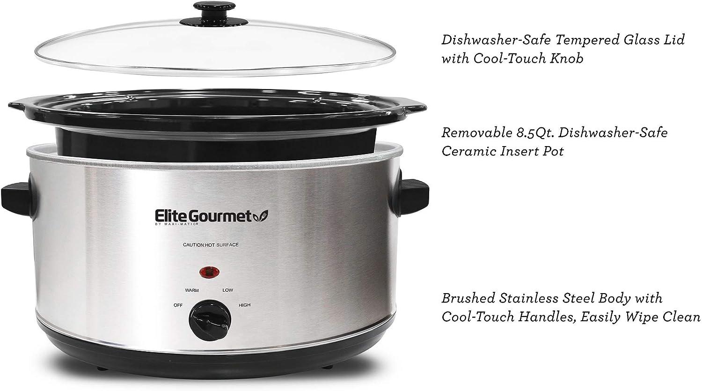 Elite Gourmet slow cooker 8.5 Quart, MST-900V