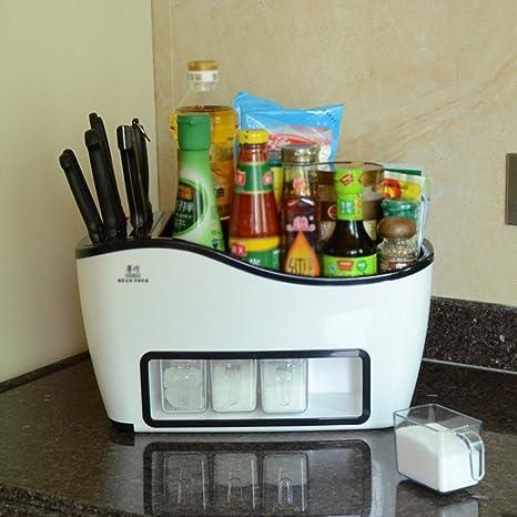 Estantes y soportes para ollas y sartenes HWF Estanterías de Cocina Multifunción Estantería de Especias (