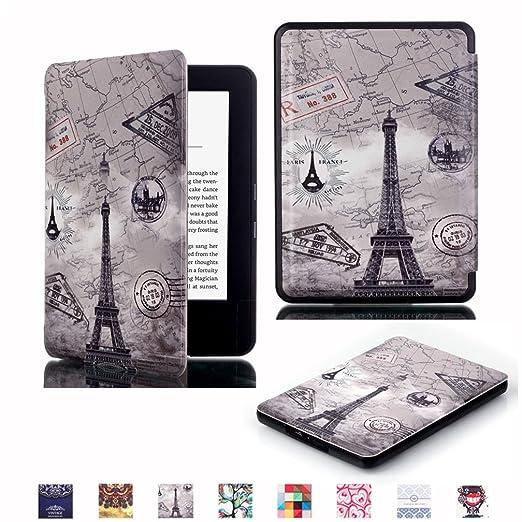 87 opinioni per Kindle 7 Generazione Custodia Pelle,PU Pelle Protettiva Book Cover Flip Case per