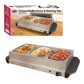 Bandeja de buffet compacta con calentador Quest Benross Quest