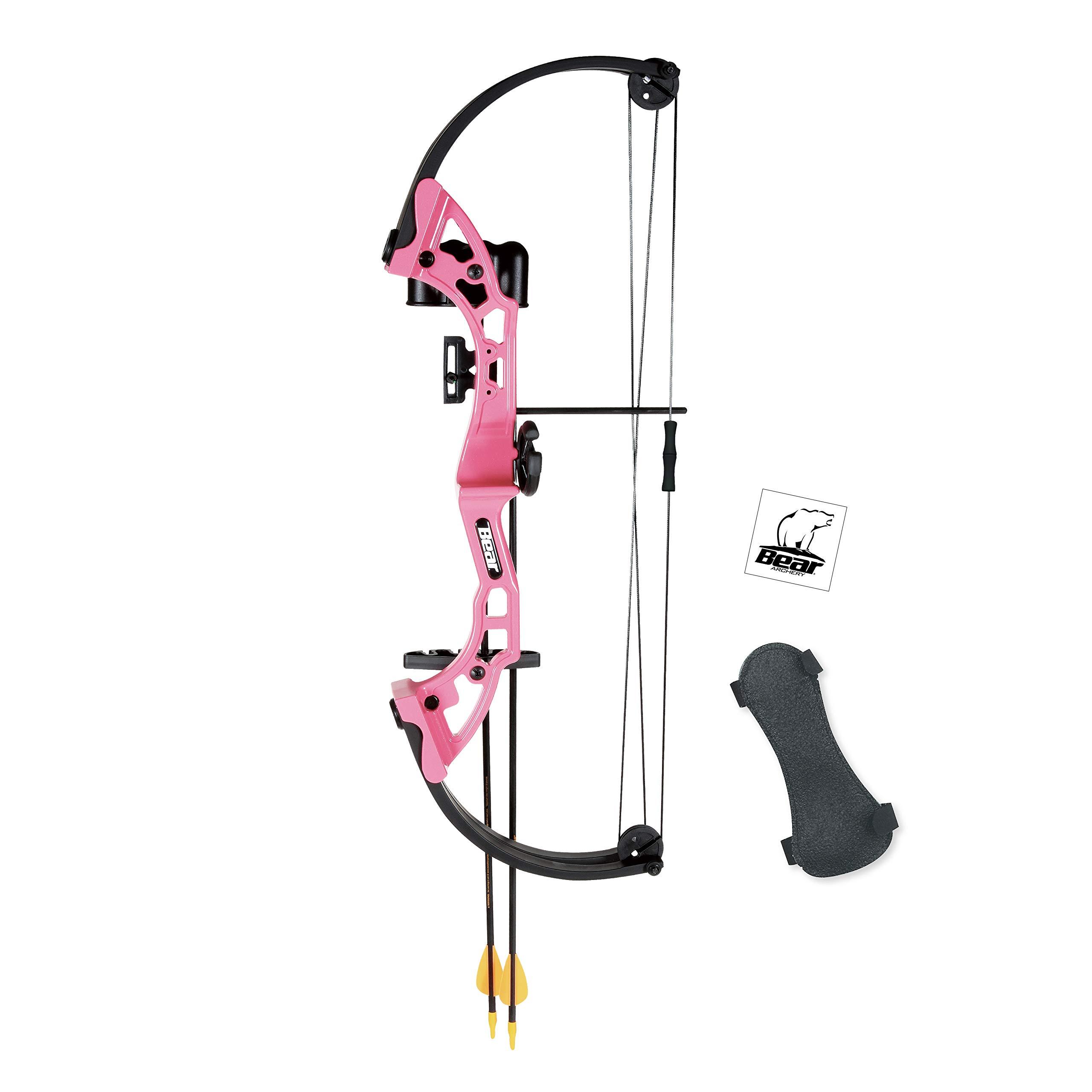 Bear Archery AYS300PR Brave Youth Bow, Pink