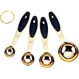 The Fitz Collection Modern Gold Measuring Spoons Stainless Steel - Gorgeous & Durable, High-End, Mirror Polished 4 piece set