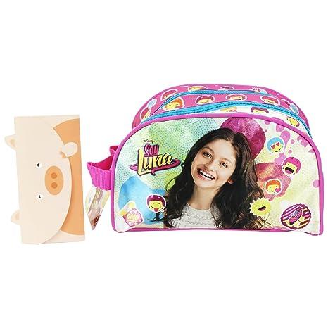 Disney Soy Luna Icons Estuche Escolar Làpices de colores Plumier dos compartimientos Rosa: Amazon.es: Equipaje