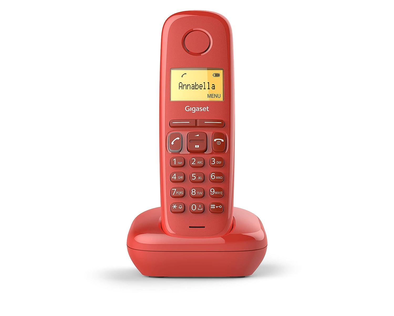 Gigaset A170 - Teléfono inalámbrico, Pantalla iluminada, Agenda de 50 contactos. Color Chocolate