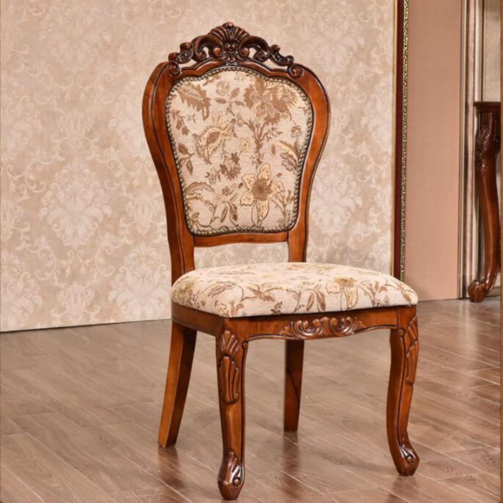 Wooden stool American side chairs solid wood carved dining chairs