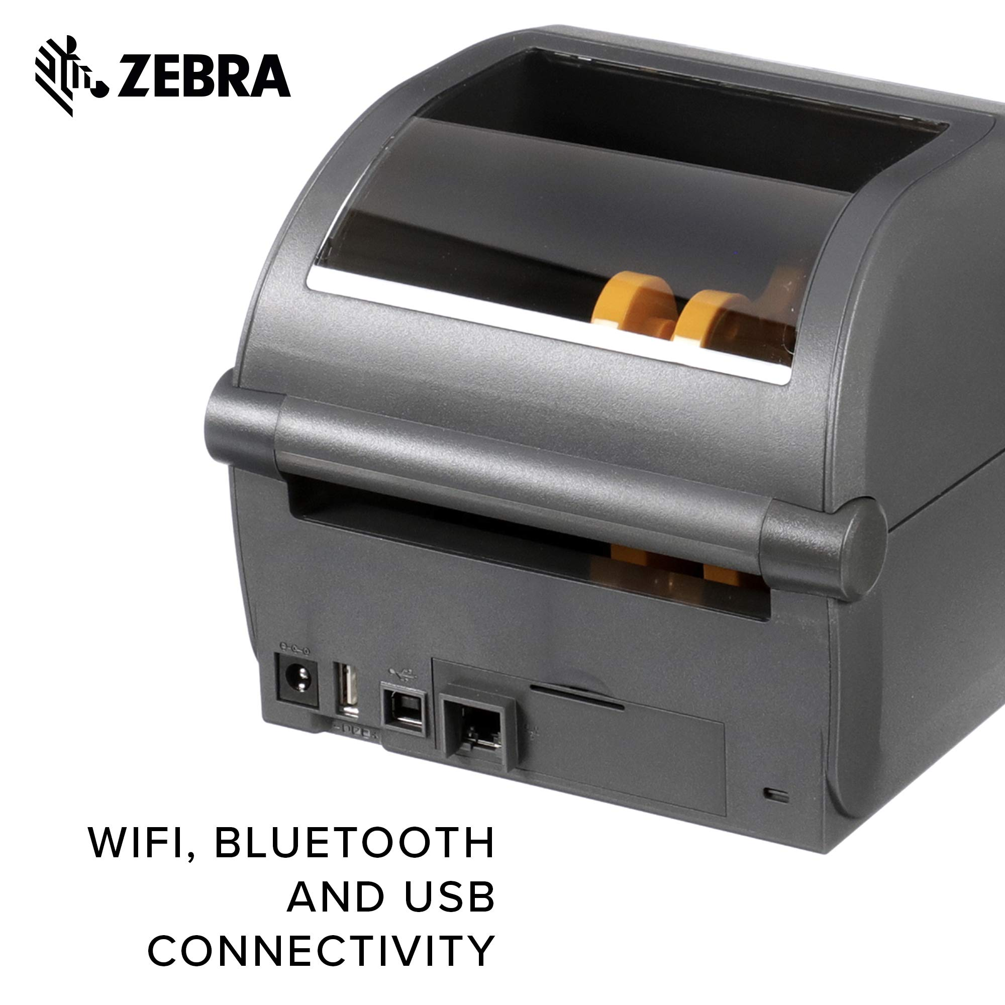 Zebra - ZD420d Direct Thermal Desktop Printer for Labels and Barcodes - Print Width 4 in - 300 dpi - Interface: WiFi, Bluetooth, USB - ZD42043-D01W01EZ by Zebra Technologies (Image #5)