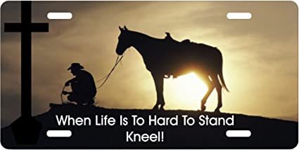 Amazon Com When Life Is To Hard To Stand Kneel Cowboy Praying Car