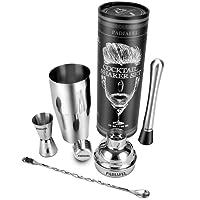 PADIAFEL Shaker Cocktail Professionnel Bar Shaker à Cocktail Set en inox 750ml Shaker Cadeau Parfait