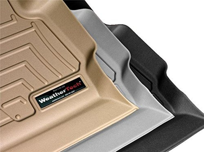 WeatherTech 4469712前面と背面床ライナー、ブラック B01049W1RG  - -