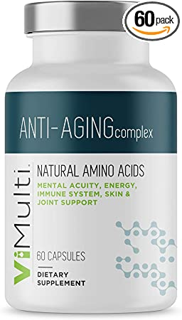 ViMulti Anti-Aging Natural Amino Acid Supplement for Longevity –Supports Immune Health, Increased Energy, Improved Focus, Smoother Skin Tone and Restorative Sleep