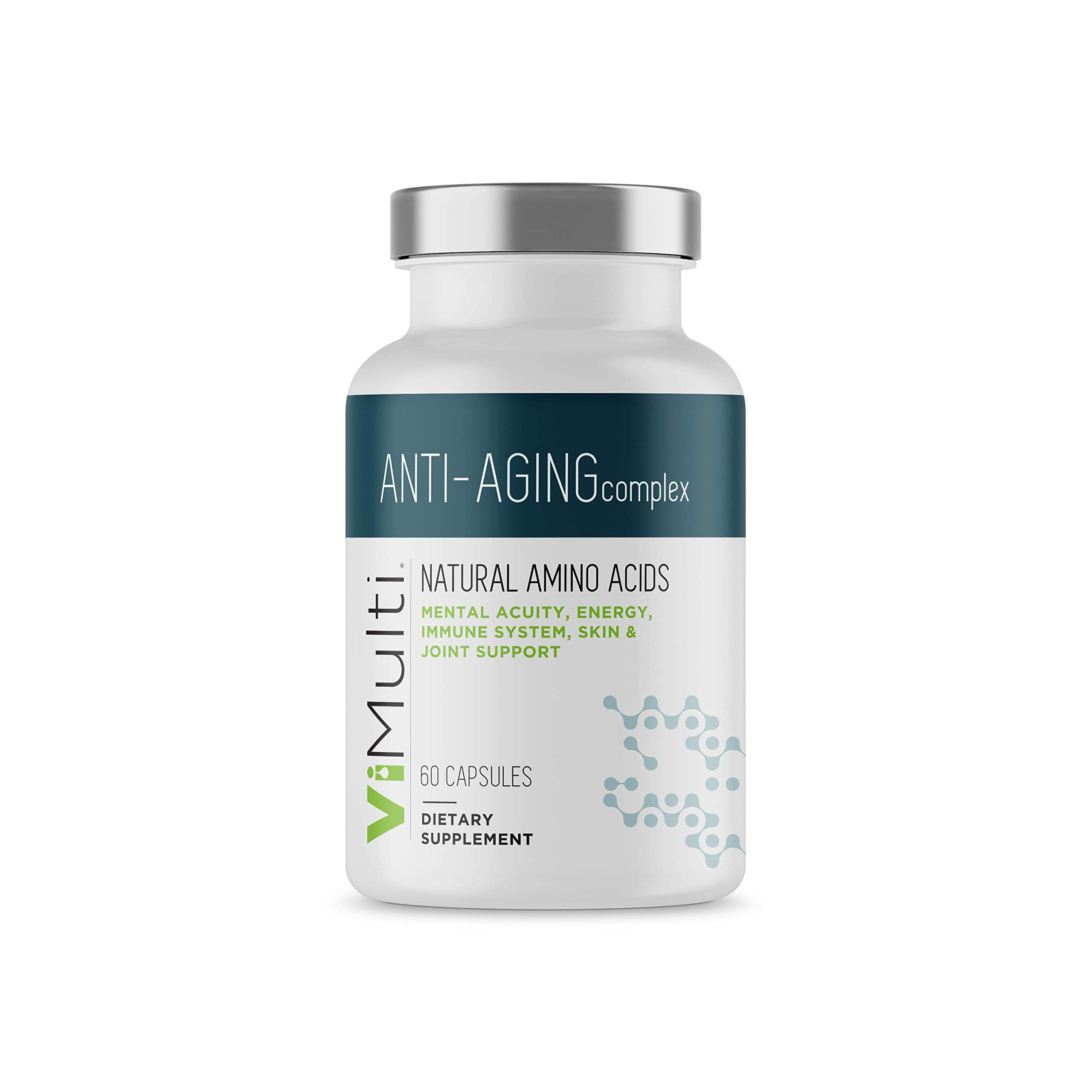 ViMulti Best Natural Amino Acid Anti-Aging Supplement for Longevity – Clinically Proven - Supports Mental Acuity, Immune System, Muscle Tone & Skin Plus Natural Energy & Endurance