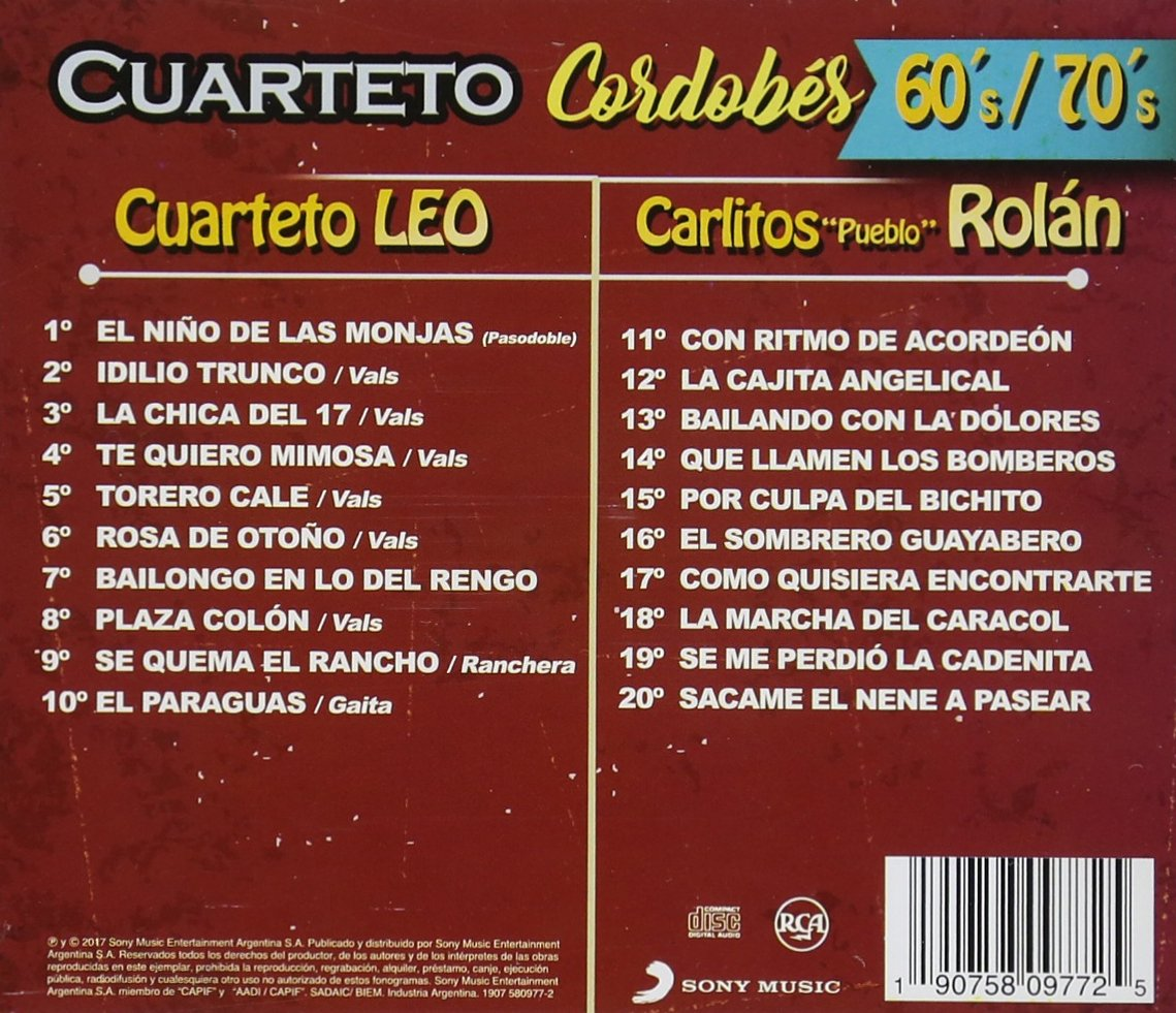VARIOUS ARTISTS - Cuarteto Cordobes 60/70-No Hay Edad / Various - Amazon.com Music