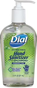 Dial Professional 01585 Antibacterial Gel Hand Sanitizer with Moisturizers 7.5oz Pump Bottle 12/CTN