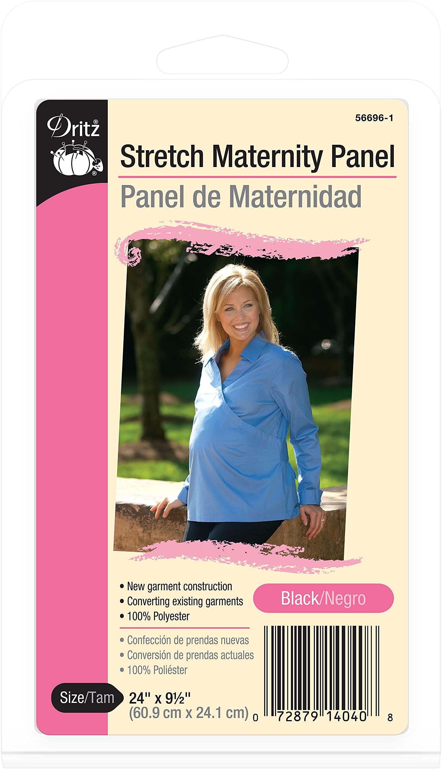 Dritz Stretch Maternity Panel, Black