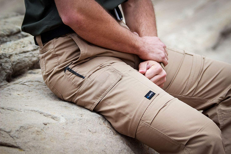LA Police Gear Men's Urban Ops Tactical Cargo Pants - Elastic WB - YKK Zipper: Clothing