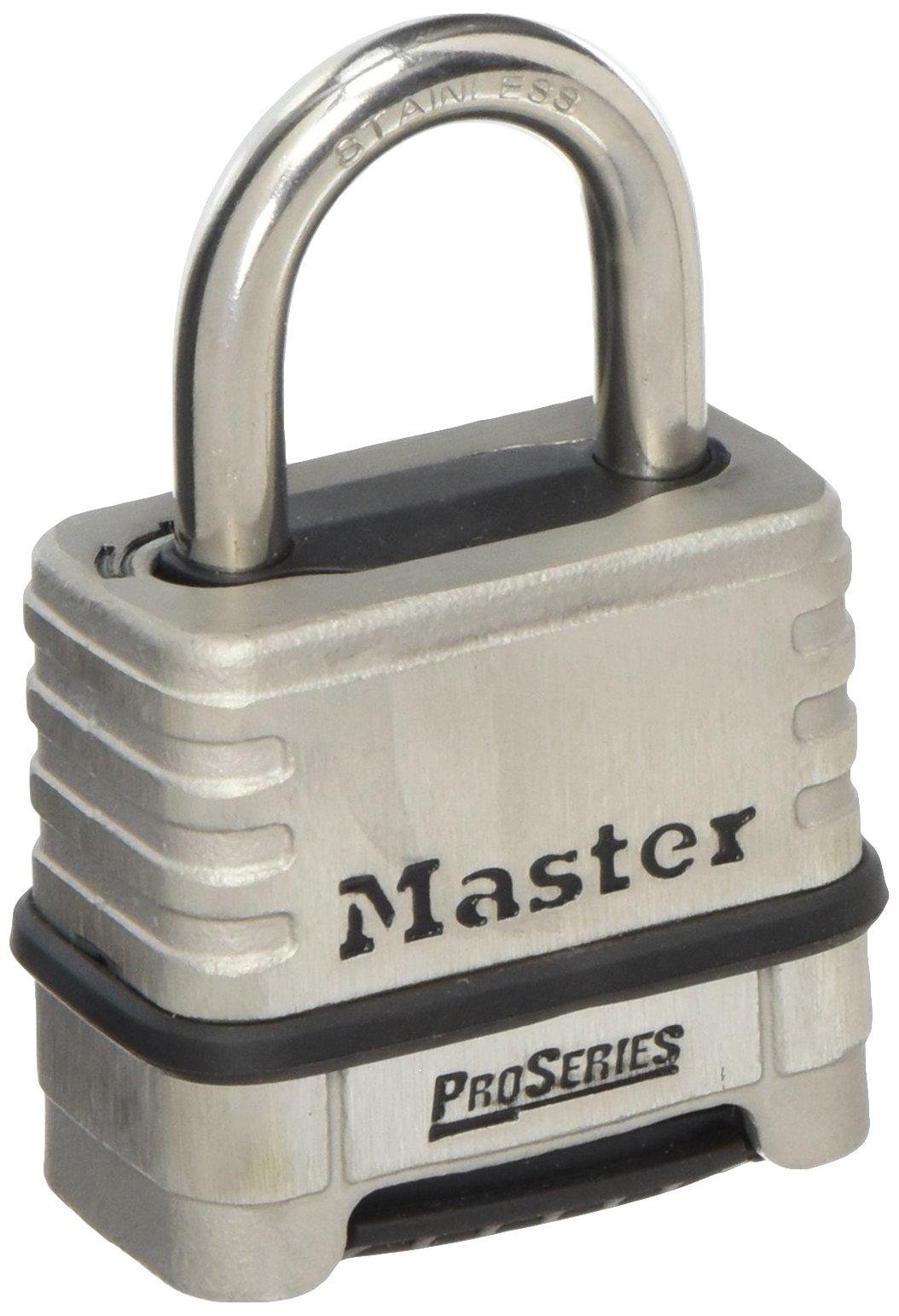 Master Lock 1178D 4 Pack 2-1//4in ProSeries Zinc Die-Cast Resettable Combination Padlock Black