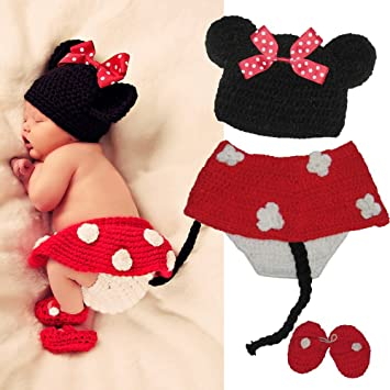 ETHAHE Minnie Mickey Mouse Conjunto de Traje para Bebé/ los ...