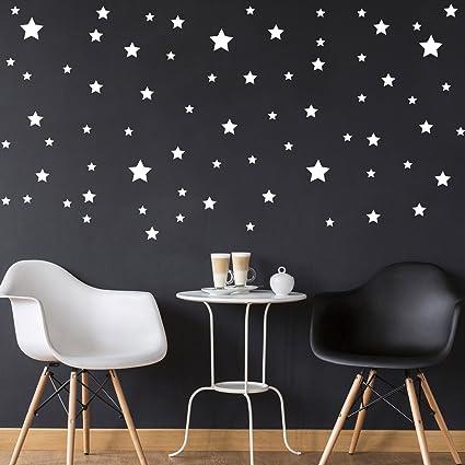 Amazon.com: Pack of 116 Stars Vinyl Wall Art Decals - .5\