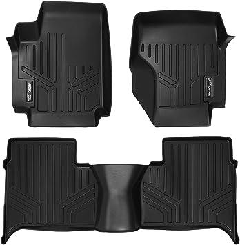 Maxliner 2011-2014 Volkswagen Amarok Floor Mats 2 Row Set Black A0086//B0086