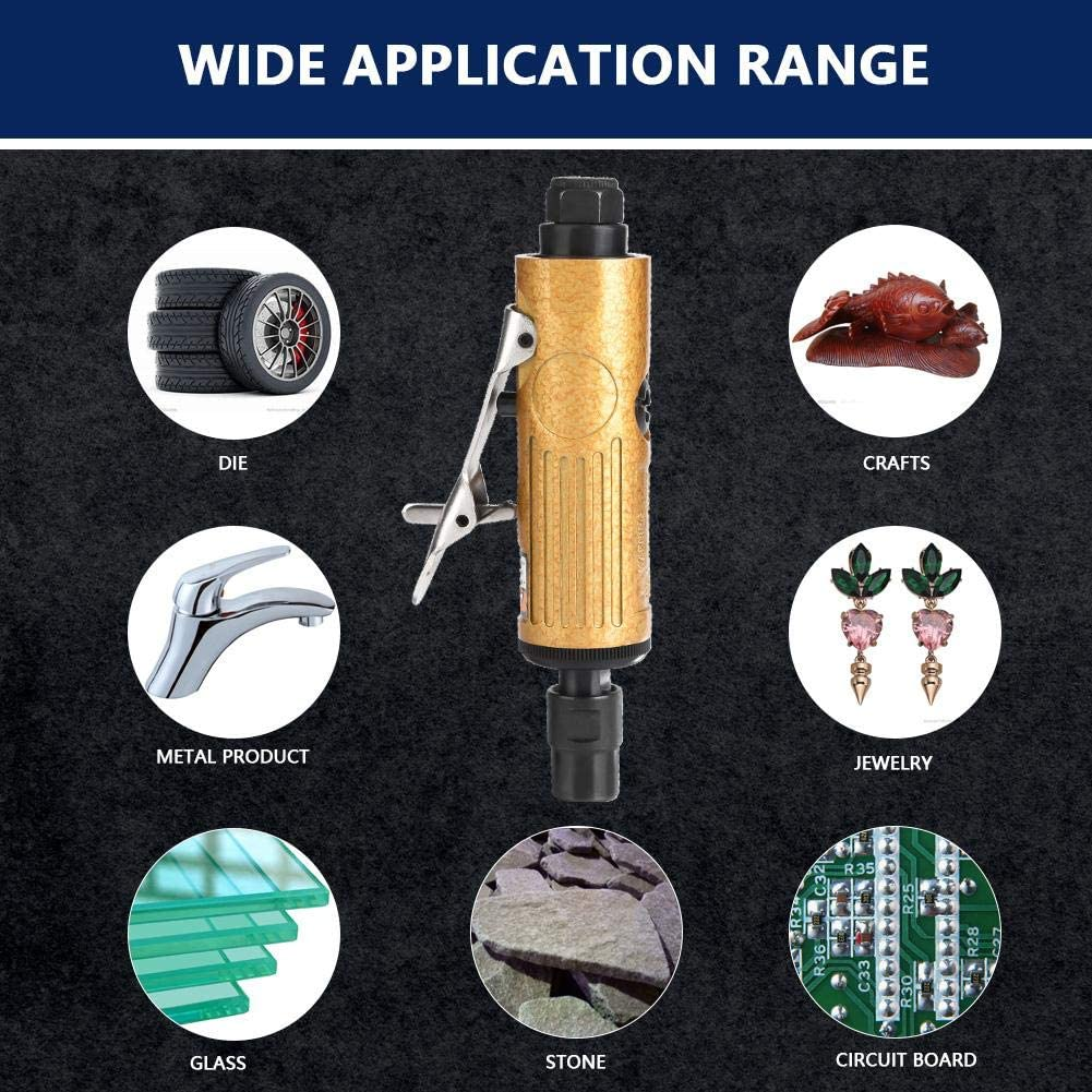 KP-621 Kit de herramientas de pulido neum/ático con 2 piezas de llaves Amoladora de aire Mini v/ástago recto Amoladora de aire KP-620 #01