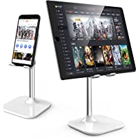 XSOUL Cell Phone Stand for Desk, Angle Height Adjustable Holder Compatible for iPhone,Android,iPad and Tablet, White