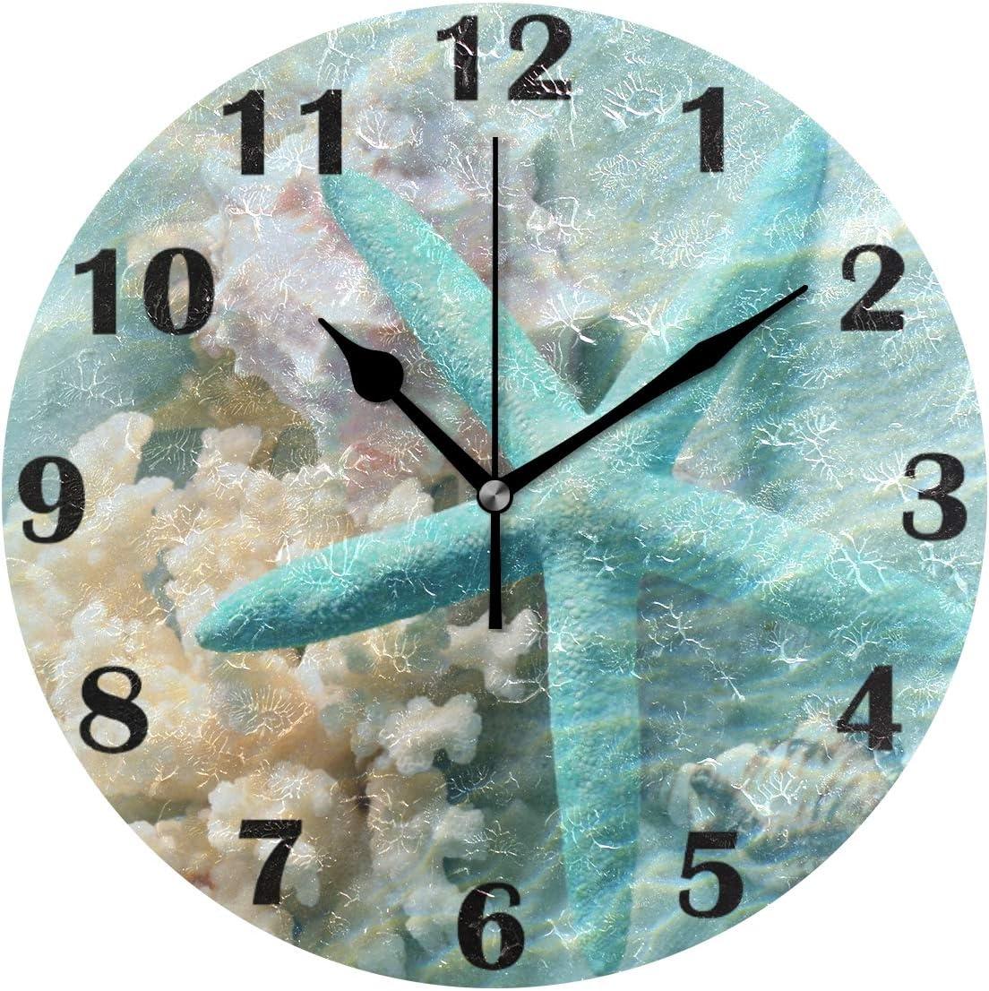 Nature Schiste Beach Plage CREATEUR Funk Horloge Silencieux Horloge radiopilotée créatifs ressort