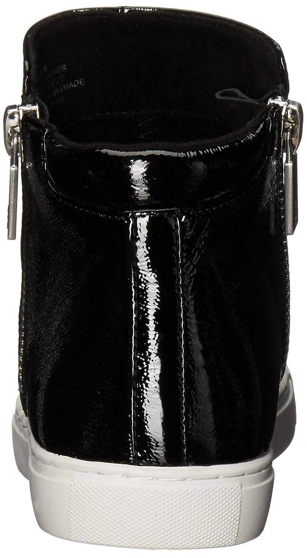 Kenneth Cole New York Women's Kiera High Top Double Zip Patent Fashion Sneaker B0727X4F3N 6 B(M) US|Black