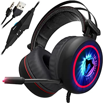 Amazon Com Newest 2019 Upgraded Gaming Headset For Xbox One Ps4 Pc 7 1 Best Surround Stereo Sound Noise Cancelling Mic 3 5mm Soft Breathing Over Ear Game Headphones Usb Led Laptop Ps3 Home Improvement
