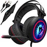 Amazon Price History for:[NEWEST 2018 UPGRADED] Gaming Headset for XBox One, PS4, PC - 7.1 Best Surround Stereo Sound, Noise Cancelling Mic, 3.5mm Soft Breathing Over-Ear Game Headphones - USB LED Laptop, PS3