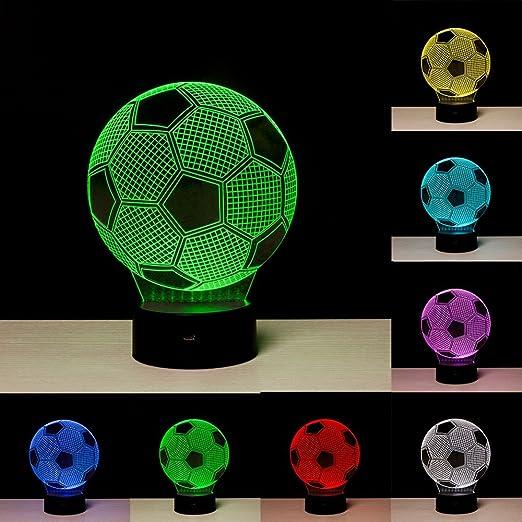 3d Illusion Fussball Lichter Lampe Fussball Led Tisch Schreibtisch Dekor 7 Farben Touch Control Usb Powered Party Dekoration Lampe 3d Visuelle Lampe