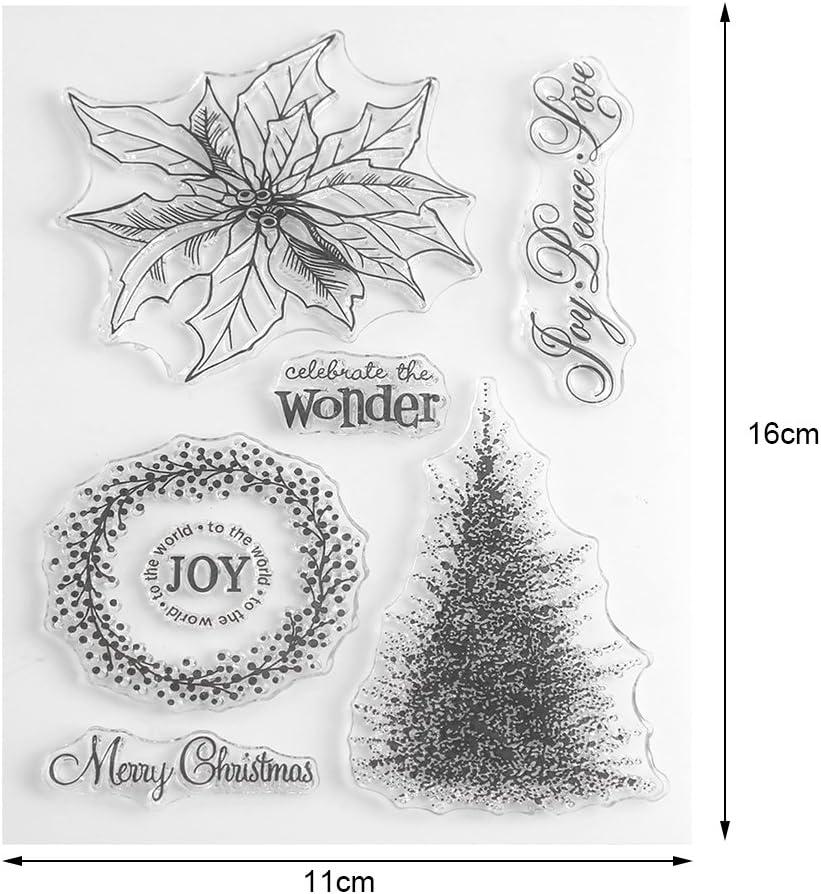 Set de Tampons Décoration Noël Loisirs Créatif Scrapbooking NEUF