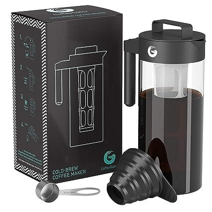 Coffee Gator Cafetera de Émbolo para Preparar Café en Frío Máquina Manual Cold-Brew para