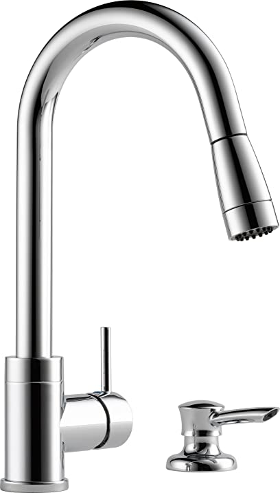 Peerless P188104LF-SD Apex Integrated Pull-Down Kitchen Faucet with ...