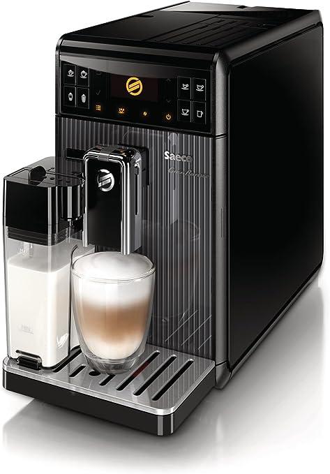 Saeco GranBaristo - Cafetera espresso automática, una pulsación y recipiente para leche, color negro: Amazon.es: Hogar