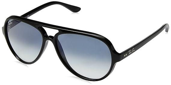 e4d9f1e107 Amazon.com: Ray-Ban Men's Cats 5000 Aviator Sunglasses, BLACK, 59 mm:  Clothing