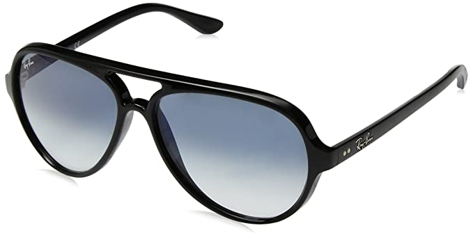 51e590fb05b Amazon.com  Ray-Ban Men s Cats 5000 Aviator Sunglasses BLACK 59 mm ...