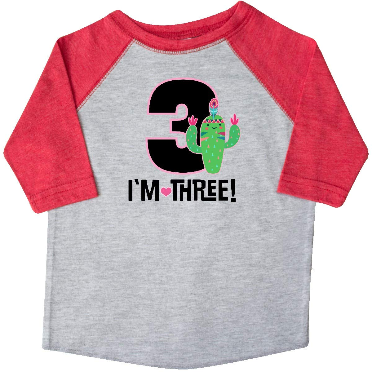 inktastic 3rd Birthday Cactus for 3 Year Old Girl Toddler T-Shirt