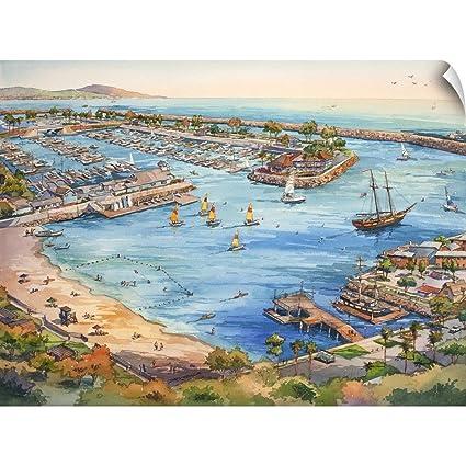 Amazon com: CANVAS ON DEMAND Dana Point Harbor Wall Peel Art