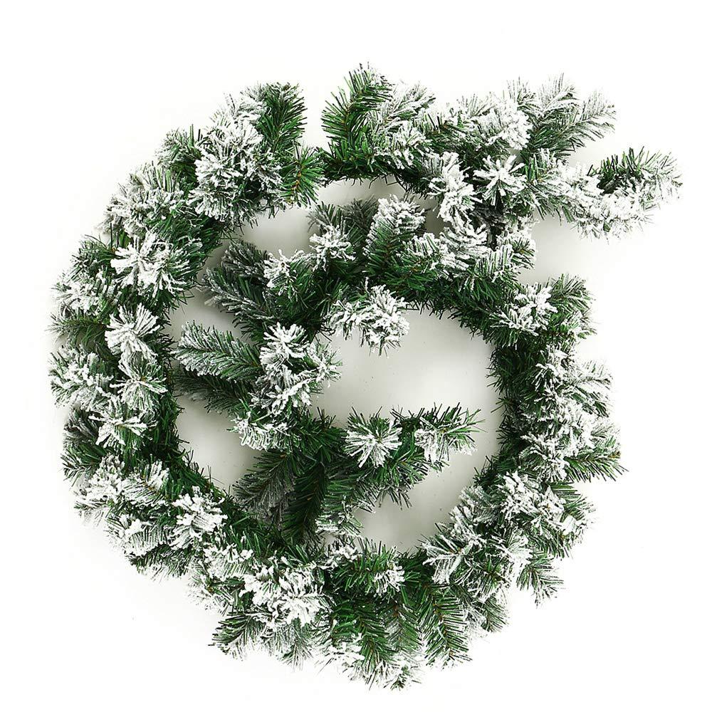 Enjoygoeu Weihnachtsgirlande Tannengirlande mit Schnee ...
