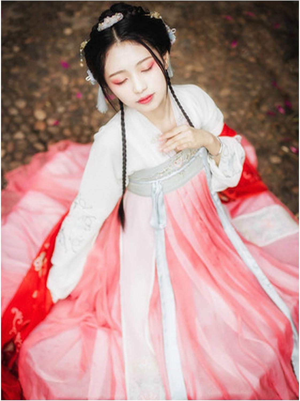 Amazon Com Hanfu Women Chinese Dress China Ancient Fairy Princess Costume Traditional Hanfu Dress 4 L Clothing