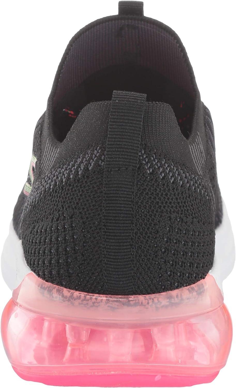Skechers Go Run Air Sneakers voor dames (Black And Multi Textile/Trim Bkmt)