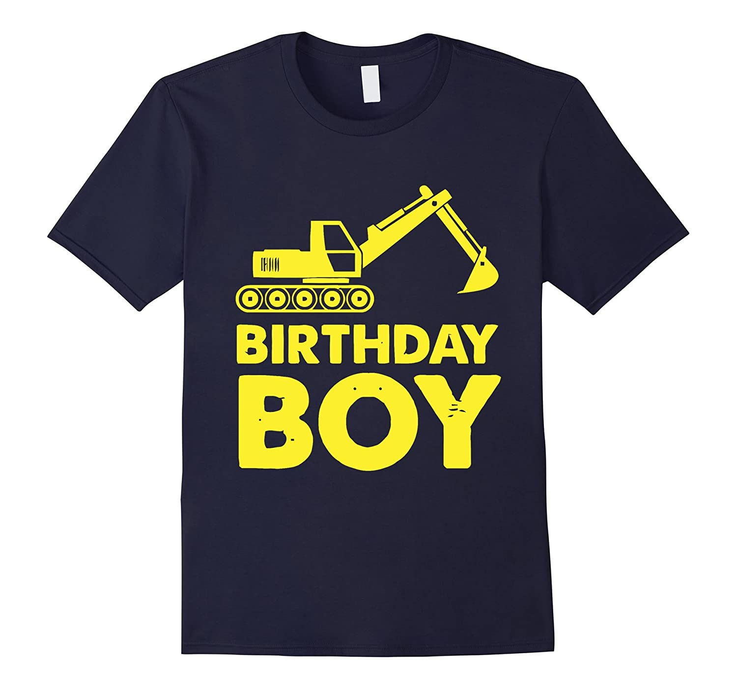 Birthday Boy Gift Idea Yellow Tractor Bulldozer Construction-CL
