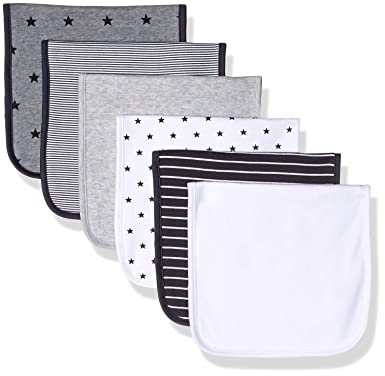 Amazon Essentials 6-Pack Burp Cloth Infant and Toddler