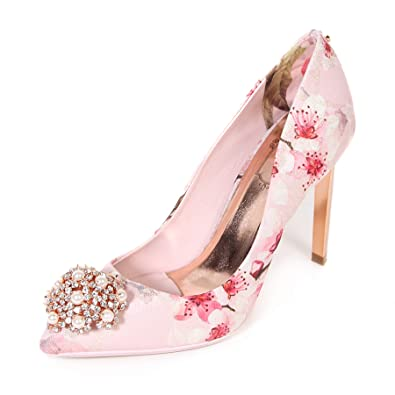 fccbfd4f764253 Ted Baker Women s Peetchp 2 Embellished High Heel Blossom Print Pink-Pale  Pink-8
