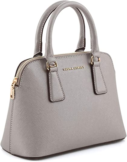 Laura Ashley Tote Bag for Women Leather, Grey: Amazon.co