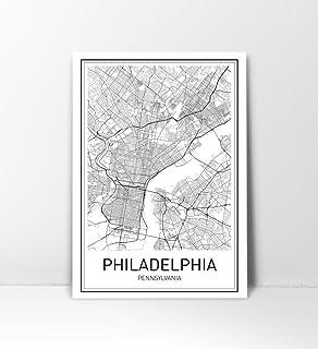Amazon philadelphia neighborhoods map art poster black white city maps city map poster philadelphia map print philadelphia poster us city freerunsca Gallery
