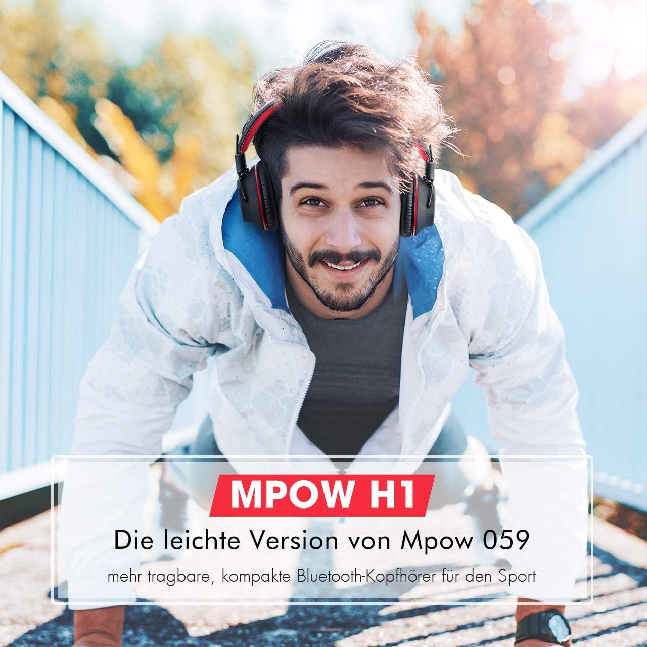 Mpow H1 Bluetooth Kopfh/örer Over Ear Perfekt Bass 3,5 mm AUX On-Ear Steuerung Over Ear Kopfh/örer mit leichtem R/ückstellschaum Ohrpolster /& Dual 40mm Treiber 20 Stunden Spielzeit