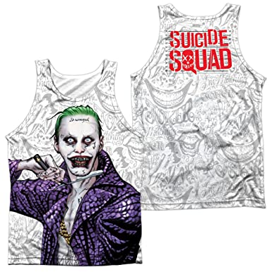 671e5fb1c Amazon.com  Front Back  Suicide Squad - Across The Throat All Over Print  Tank Top  Clothing